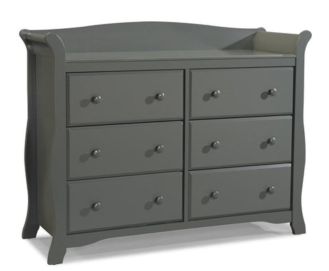 Storkcraft 03556-20G Avalon 6 Drawer Chest-Gray - Peazz.com