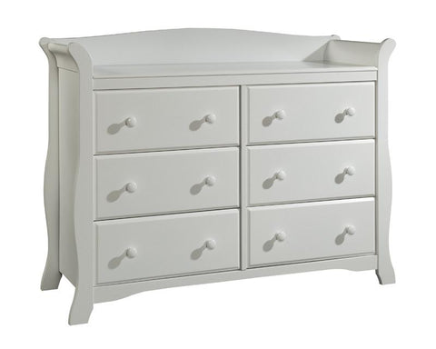 Storkcraft 03556-201 Avalon 6 Drawer Chest-White - Peazz.com
