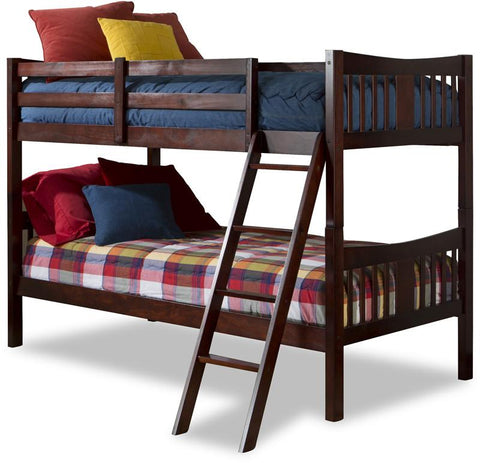 Storkcraft 09720-124 Caribou Bunk Bed-Cherry - Peazz.com
