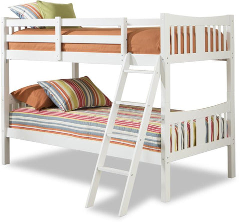 Storkcraft 09720-121 Caribou Bunk Bed-White - Peazz.com