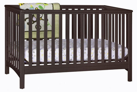 Storkcraft 04520-039 Hillcrest Fixed Side Convertible Crib-Espresso - Peazz.com