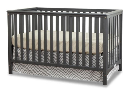 Storkcraft 04520-03G Hillcrest Fixed Side Convertible Crib-Grey - Peazz.com