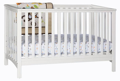 Storkcraft 04520-031 Hillcrest Fixed Side Convertible Crib-White - Peazz.com