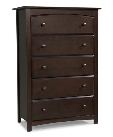 Storkcraft 03555-109 Kenton 5 Drawer Chest-Espresso - Peazz.com