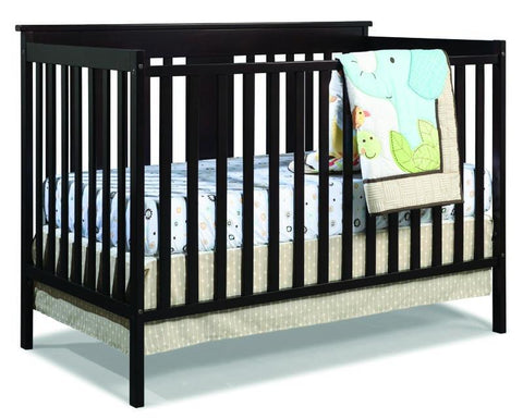 Storkcraft 04510-359 Mission Ridge Fs Conv Crib-Espresso - Peazz.com