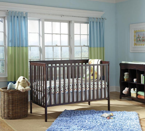 Storkcraft 04510-289 Sheffield Ii Crib (W/Cap)-Espresso (Drop Ship) - Peazz.com
