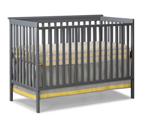 Storkcraft 04510-28G Sheffield Ii Crib (W/Cap)-Grey (Drop Ship) - Peazz.com