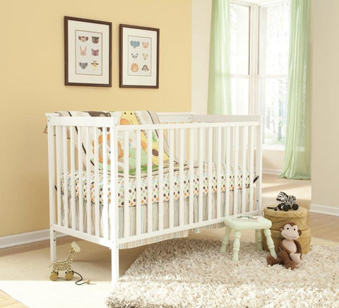 Storkcraft 04510-281 Sheffield Ii Crib W/Cap -White (Drop Ship) - Peazz.com