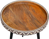 Ren-Wil TA168 Derby Collection Natural Wood And Antique Black Metal Finish