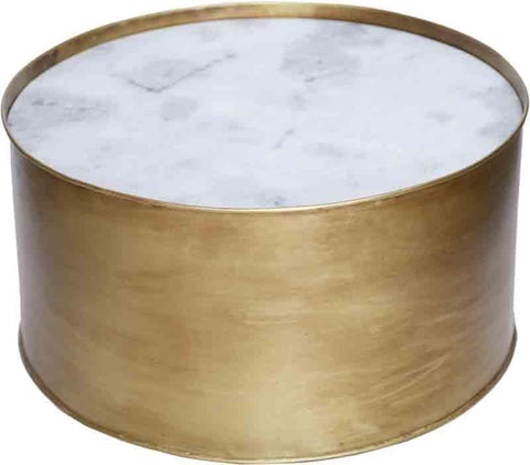 Ren-Wil TA171 Domingo Collection Marble And Gold Antique Metal Frame Finish