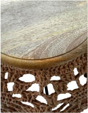 Ren-Wil TA191 Arcadia III Collection Wood - Natural Yarn - Beige Finish
