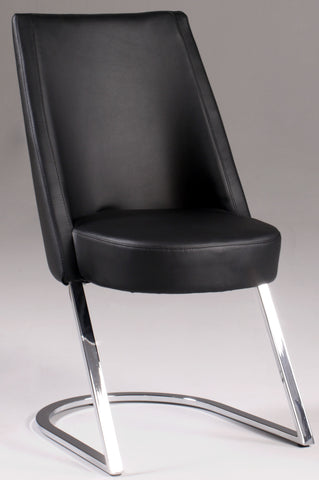 Chintaly TAMI-SC-BLK Slight Concave Back Side Chair ( Set of 2 )