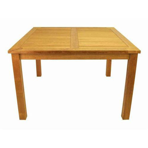 "Anderson Teak TB-047SS Windsor 47"" Square Table Small Slats - Peazz.com"