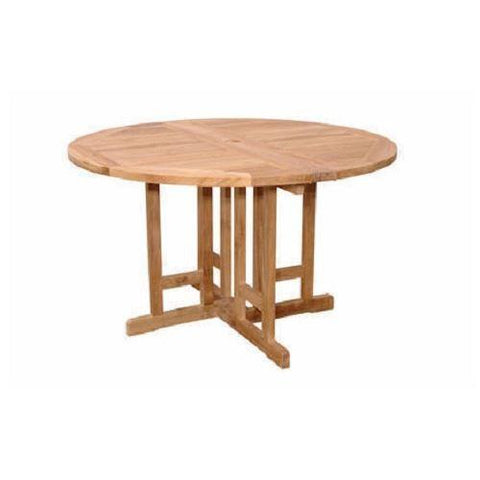 "Anderson Teak TBF-047BR Butterfly 47"" Round Folding Table - Peazz.com"