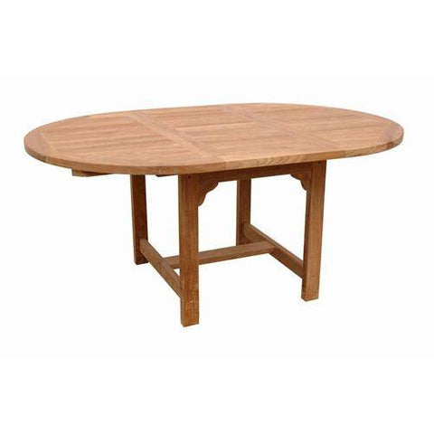 "Anderson Teak TBX-067V 67"" Oval Extension Table - Peazz.com"