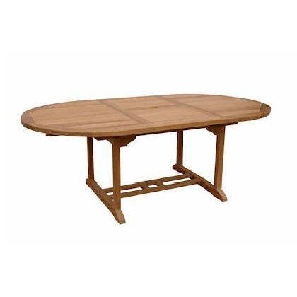 Anderson Teak Oval Extension Table Extra Thick Wood Bahama
