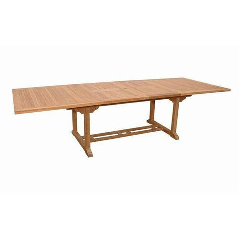 "Anderson Teak TBX-117RD Valencia 117"" Rectangular Double Extension Table - Peazz.com"