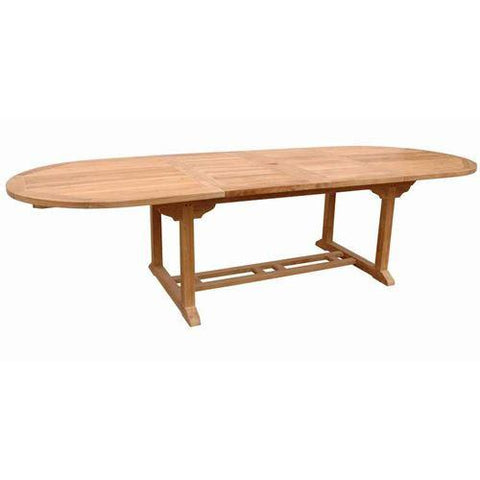 "Anderson Teak TBX-117VD Bahama 117"" Oval Extension Table w/ Double Extensions - Peazz.com"