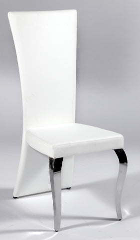 Chintaly TERESA-SC-RCT-WHT Transitional Rectangular High Back Side Chair ( Set of 2 )
