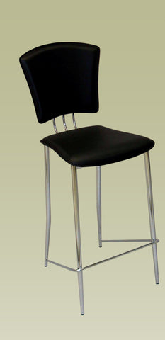 Chintaly TRACY-CS-BLK Counter Height Stool ( Set of 2 )