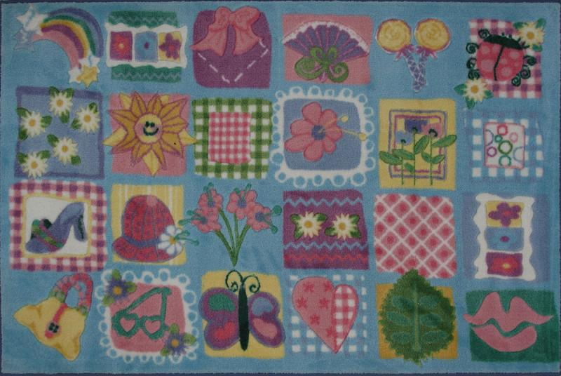 Fun Rugs TSC-247 3958 Supreme Collection Funky Girls Quilt Multi-Color - 39 x 58 in.