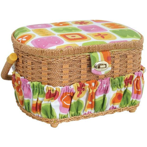 Michley Lil' Sew & Sew FS-095 Sewing Basket with 41-Piece Sewing Kit - Peazz.com