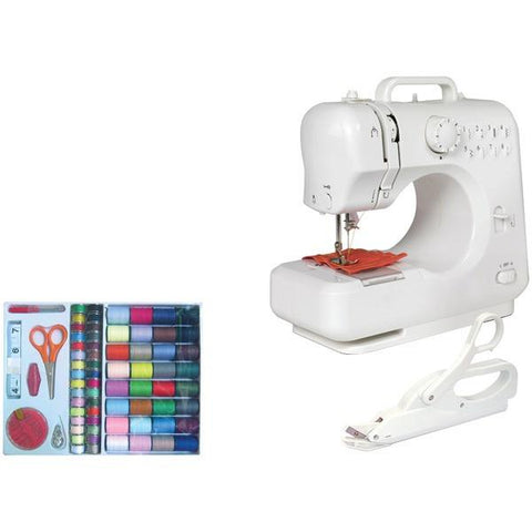 Michley Lil' Sew & Sew LSS-505C Desktop 8-Stitch Sewing Machine (With sewing kit & electric scissors) - Peazz.com