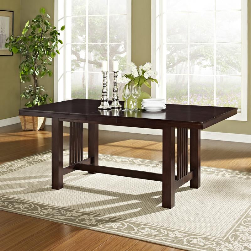 Walker Edison Wood Dining Table Cappuccino