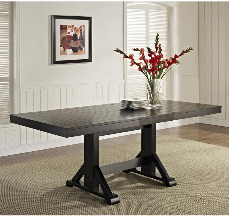 Black Wood Dining Table ***Ships Ltl*** Antique 1670 Product Photo