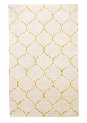 "KAS Rugs Transitions 3327 Ivory Harmony Hand-Tufted 100% Wool with Viscose Highlights 3'3"" x 5'3"""