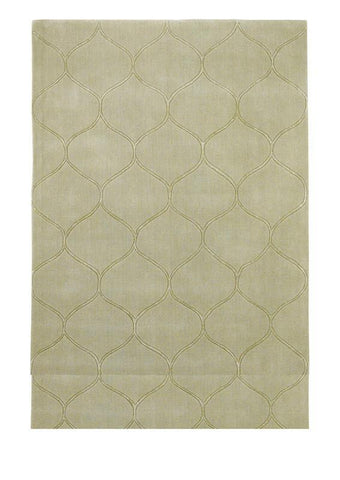 KAS Rugs Transitions 3328 Harmony Celadon Hand-Tufted 100% Wool with Viscose Highlights 5' x 8'
