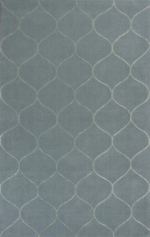 "KAS Rugs Transitions 3329 Frost  Harmony Hand-Tufted 100% Wool with Viscose Highlights 3'3"" x 5'3"""