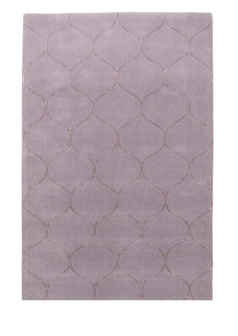 "KAS Rugs Transitions 3330 Lavender Harmony Hand-Tufted 100% Wool with Viscose Highlights 3'3"" x 5'3"""