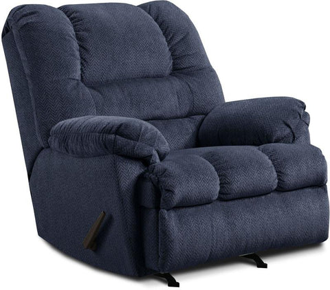 United Furniture Industries U600-19 Zig Zag Blue Rocker Recliner - Peazz.com