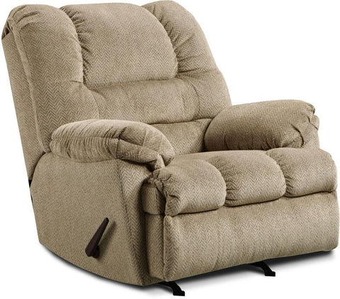 United Furniture Industries U600-19 Zig Zag Tan Rocker Recliner - Peazz.com