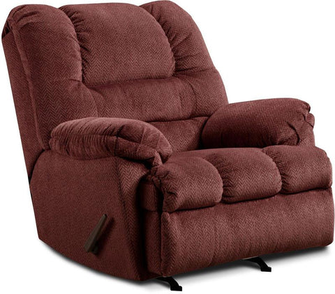 United Furniture Industries U600-19 Zig Zag Wine Rocker Recliner - Peazz.com