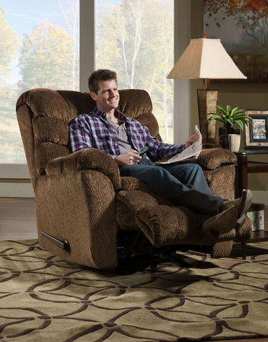 United Furniture Industries U678-191 Aegean Chocolate Rocker Recliner Heat & Massage - Peazz.com - 1