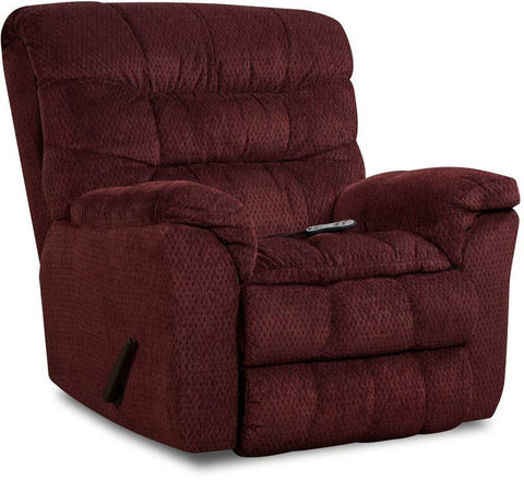 United Furniture Industries U678-191 Aegean Wine Rocker Recliner Heat & Massage - Peazz.com