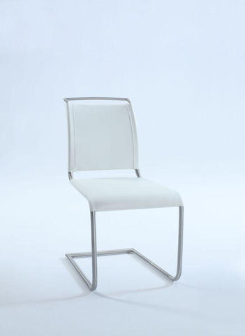 Chintaly VALENTINA-SC-WHT Upholstered Side Chair ( Set of 2 )