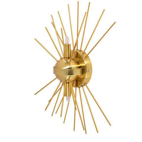 Dainolite VEG-102W-GLD-VB 2Lt Wall Sconce, Gold & Vintage Bronze Finish