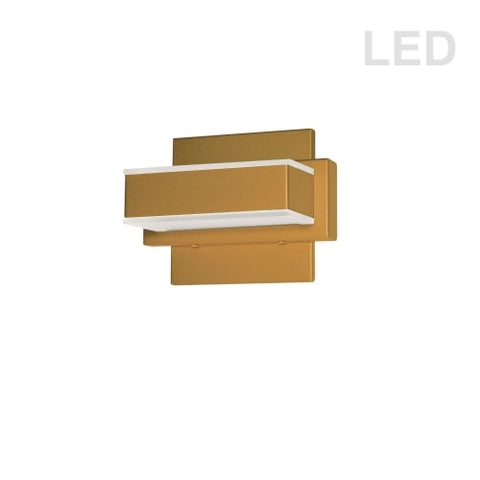 1 LT LED Wall Vanity, GLD