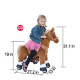 Vroom Rider x PonyCycle VR-U321 U-Series Ride-On Dark Brown Horse for 3-5 Years Old - Small