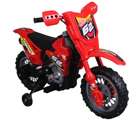 Vroom Rider VR098 6V Battery Operated Dirt Bike (Red) - Peazz.com
