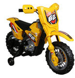 Vroom Rider VR098 6V Battery Operated Dirt Bike (Yellow) - Peazz.com