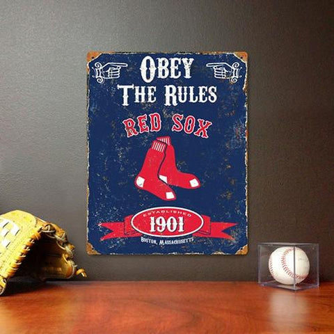 The Party Animal, Inc. VSBOS Boston Red Sox Embossed Metal Sign - Peazz.com