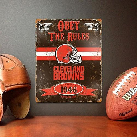 The Party Animal, Inc. VSBR Cleveland Browns Embossed Metal Sign - Peazz.com