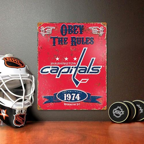 The Party Animal, Inc. VSCAP Washington Capitals Embossed Metal Sign - Peazz.com