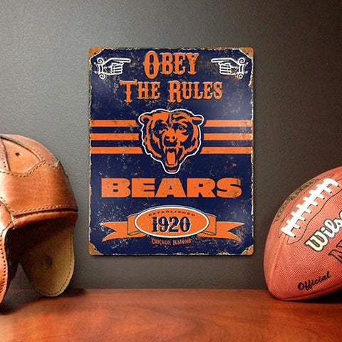 The Party Animal, Inc. VSCH Chicago Bears Embossed Metal Sign - Peazz.com