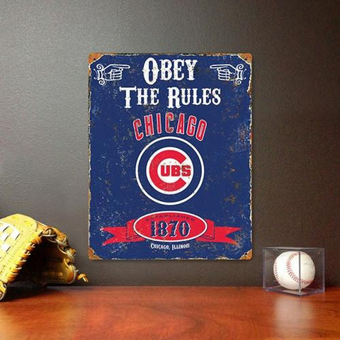 The Party Animal, Inc. VSCUB Chicago Cubs Embossed Metal Sign - Peazz.com