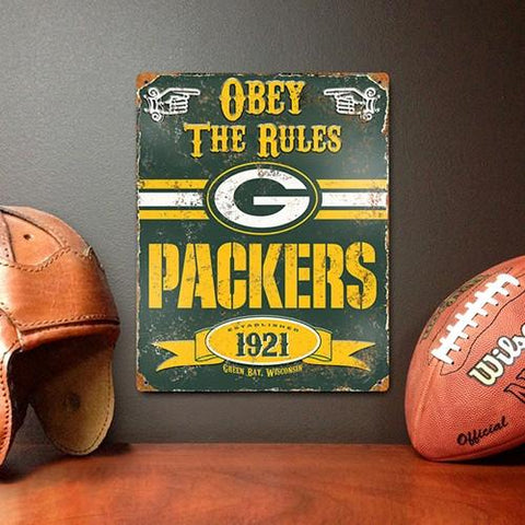 The Party Animal, Inc. VSGB Green Bay Packers Embossed Metal Sign - Peazz.com